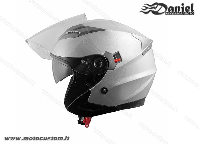 Casco jet doppia visiera Kinetic , Daniel accessori moto