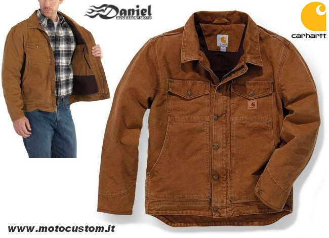 100% authentic 11d53 4a89b Giacca Carhartt Berwick Marrone