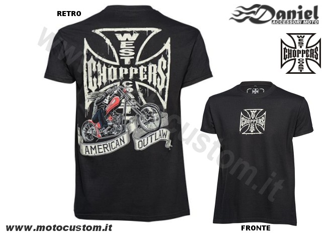 T shirt WCC Chopper Dog Tee Black , Daniel accessori moto