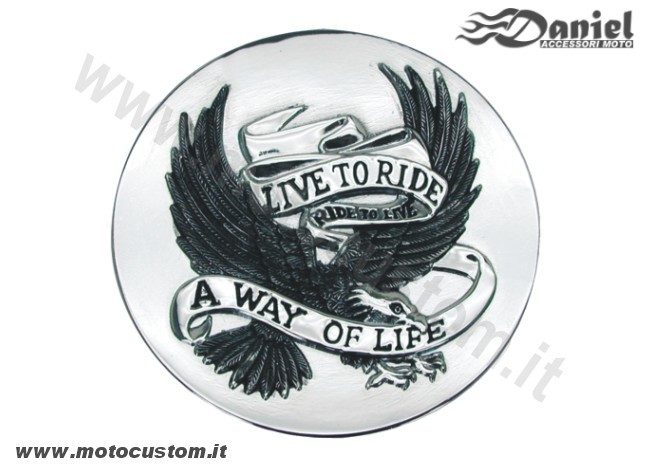 emblema Live To Ride G cod 301733, Daniel accessori moto
