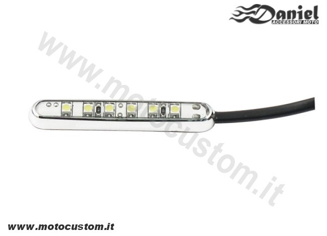 Mini faretto moto Led bianco cod 1833, Daniel accessori moto