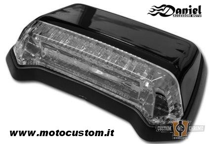 faretto custom Led Fender Black cod 1705, Daniel accessori moto