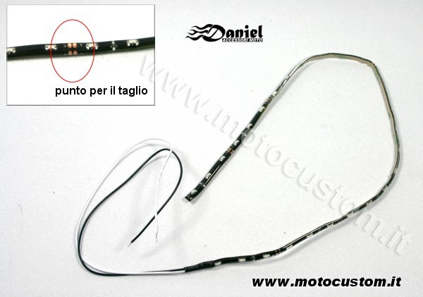 Striscia luminosa Led moto cod 27Led, Daniel accessori moto