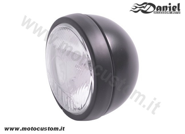 Faro supplementare moto custom nero cod 1822, Daniel accessori moto