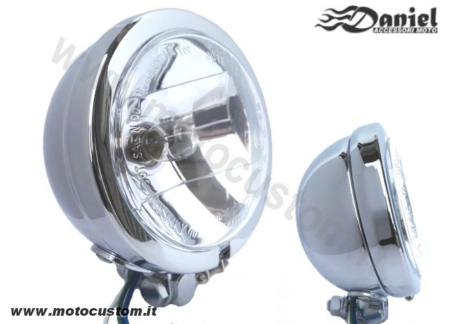 Faro supplementare moto USA style cod 243, Daniel accessori moto