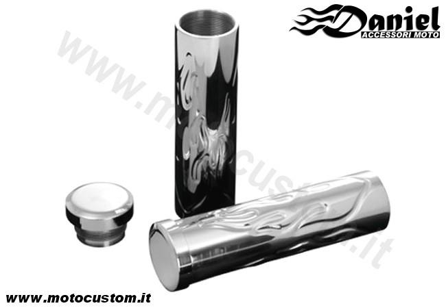 negozio ufficiale caldo-vendita negozio online Manopola alluminio Flame - Daniel accessori moto