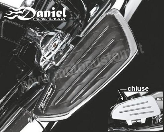 Pedane larghe passeggero vari modelli daniel accessori moto for Staffe per mensole richiudibili