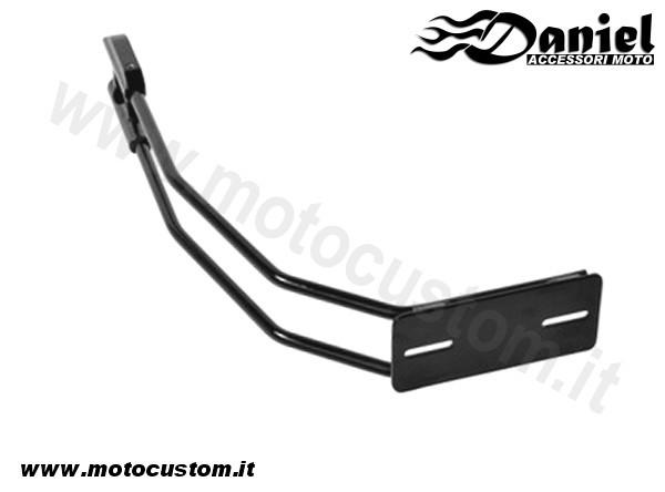 Portatarga Monobraccio Nero Moto Custom Caf 233 Racer Bobber