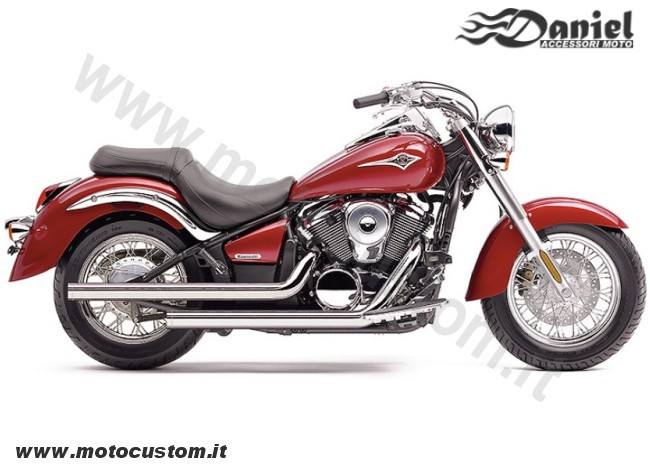 Drag pipes Kawasaki VN900 cod 1843, Daniel accessori moto