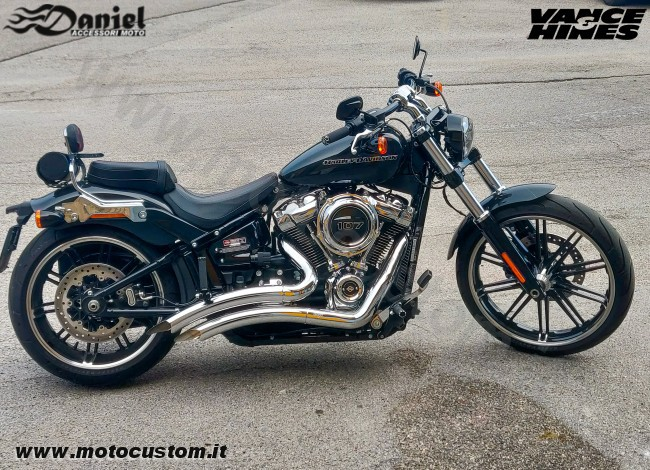 Scarichi Big Radius 2in2 Softail cod 1966, Daniel accessori moto