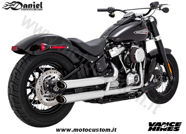 Terminali VH Twin Slash cromo Softail 19 cod 1944, Daniel accessori moto