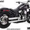Terminali VH Twin Slash cromo Softail 19 Daniel accessori moto