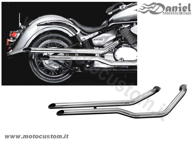 Fat pipes cod 652 654, Daniel accessori moto