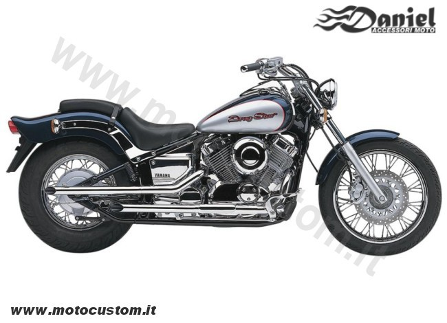 Drag pipe Dragstar XVS650 08 cod 1828, Daniel accessori moto