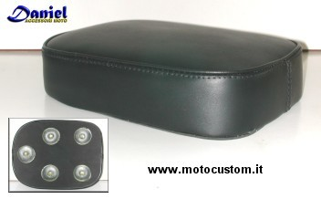 Sedile a ventosa per moto cuscino per passeggero posteriore per moto ti consente di sederti pi/ù comodamente con meno sensazione di fatica Ventosa Croco Dark Brown 8 per Bobber Chopper