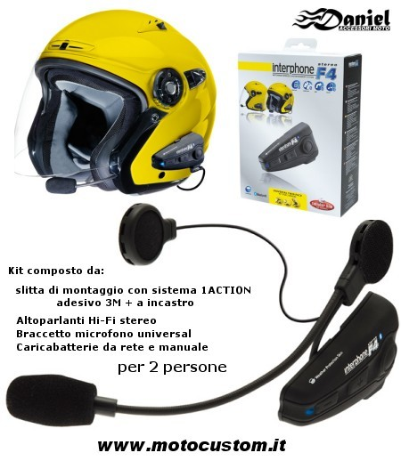 Interfono Cellular Line cod F4, Daniel accessori moto