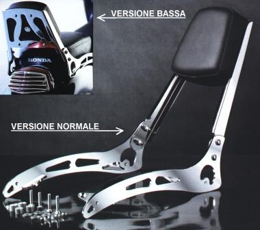 Accessori De Pretto Moto - 100/% Made in Italy VT 600 Shadow Schienalino Minuteria Inclusa DPM Race S-0104 Facile Installazione - Schienale Sissy Bar